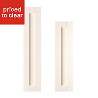 IT Kitchens Textured Ivory Style Shaker Tall Cabinet door (W)300mm, Set of 2