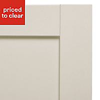 IT Kitchens Textured Ivory Style Shaker Tall single oven housing Cabinet door (W)600mm