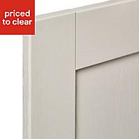 IT Kitchens Brookfield Textured Mussel Style Shaker Standard Cabinet door (W)400mm