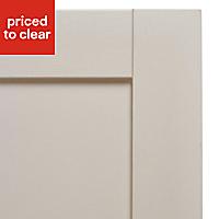 IT Kitchens Brookfield Textured Mussel Style Shaker Standard Cabinet door (W)600mm