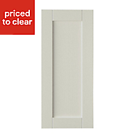 IT Kitchens Brookfield Textured Mussel Style Shaker Tall Cabinet door (W)400mm