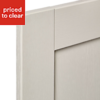 IT Kitchens Brookfield Textured Mussel Style Shaker Tall Cabinet door (W)500mm