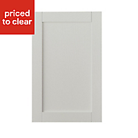 IT Kitchens Brookfield Textured Mussel Style Shaker Tall Cabinet door (W)600mm