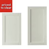 IT Kitchens Textured Mussel Style Shaker Tall Cabinet door (W)600mm, Set of 2
