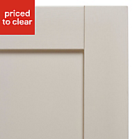 IT Kitchens Brookfield Textured Mussel Style Shaker Tall single oven housing Cabinet door (W)600mm