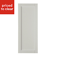 IT Kitchens Brookfield Textured Mussel Style Shaker Fridge/Freezer Cabinet door (W)600mm