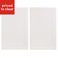 IT Kitchens Stonefield Stone Classic Larder Cabinet door (W)600mm, Set of 2