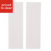 IT Kitchens Stonefield Stone Classic Larder Cabinet door (W)300mm, Set of 2