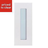 IT Kitchens Stonefield Stone Classic Tall glazed Cabinet door (W)300mm