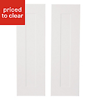 IT Kitchens Stone Classic Tall Cabinet door (W)300mm, Set of 2