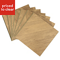 Colours Alessano Natural Herringbone oak effect Laminate flooring, Sample