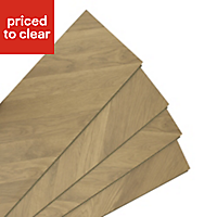 Colours Alessano Natural Herringbone oak effect Laminate flooring, 1.39m² Pack