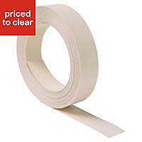 White Worktop edging tape, (L)10m