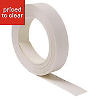 Brookfield White Worktop edging tape, (L)10m