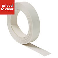 Matt White Worktop edging tape, (L)10m