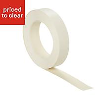 Matt Cream Worktop edging tape, (L)10m