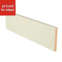 IT Kitchens Matt Classic Ivory Straight Plinth, (L)2440mm