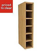 Cooke & Lewis Oak effect Wine rack cabinet, (H)720mm (W)150mm