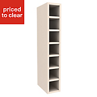Cooke & Lewis Ivory Tall Wine rack cabinet, (H)900mm (W)150mm