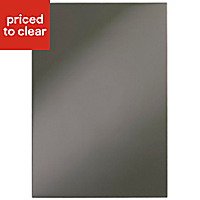 Cooke & Lewis Raffello High Gloss Anthracite Standard Cabinet door (W)500mm