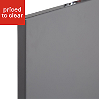 Cooke & Lewis Raffello High Gloss Anthracite Cabinet door (W)600mm, Set of 2