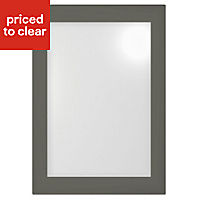 Cooke & Lewis Raffello High Gloss Anthracite Cabinet door (W)500mm