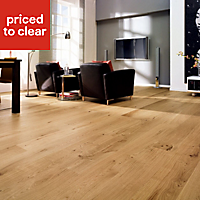 Colours Monito Natural Oak effect Real wood top layer flooring, 1.58m² Pack