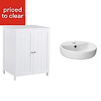 Nicolina White Vanity unit & basin set