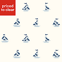 Baby Colours Little sailor Blue Smooth Wallpaper