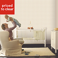 Baby Colours Little gingham Beige Smooth Wallpaper