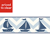 Baby Colours Little sailor Blue Mica effect Border