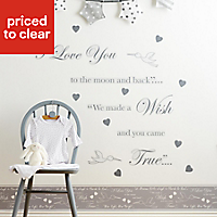 Baby Colours Little wish Grey Self-adhesive Wall sticker