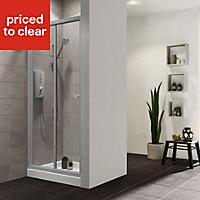 Plumbsure Shower door with Bi-fold door (W)760mm