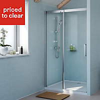 Cooke & Lewis Carmony Shower door with Single sliding soft close door (W)1200mm