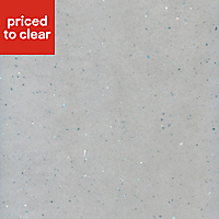 38mm Astral dove Grey Stone effect Laminate Square edge Kitchen Worktop, (L)3000mm