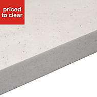 38mm Astral dove Grey Stone effect Laminate Square edge Kitchen Worktop, (L)3000mm