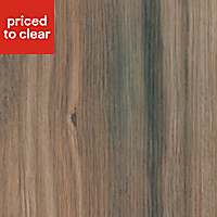 38mm Colorado oak Wood effect Laminate Round edge Kitchen Worktop, (L)3000mm