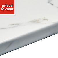 38mm Marble Veneto Brown Granite effect Laminate Round edge Kitchen Breakfast bar Worktop, (L)3000mm