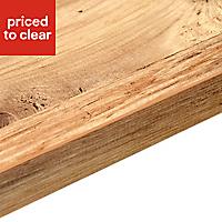 38mm Mississippi pine Wood effect Laminate Square edge Kitchen Worktop, (L)3000mm