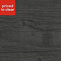 Mountain Timber Wood effect Black Worktop edging tape, (L)1.5m