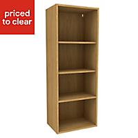 Cooke & Lewis Oak effect Tall dresser Base cabinet, (W)500mm