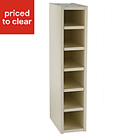 Cooke & Lewis Gloss Cream Style Cream Tall Wine rack cabinet, (H)900mm (W)150mm