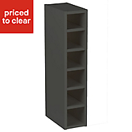 Cooke & Lewis Anthracite Tall Wine rack cabinet, (H)900mm (W)150mm