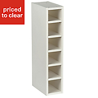 Cooke & Lewis Gloss White Style White Wine rack cabinet, (H)720mm (W)150mm