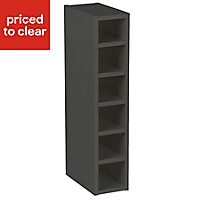 Cooke & Lewis Anthracite Wine rack cabinet, (H)720mm (W)150mm