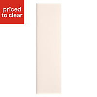 IT Kitchens Brookfield Textured Ivory Style Shaker Tall Larder Panel (H)2100mm (W)570mm, Pack of 2