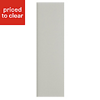 IT Kitchens Brookfield Textured Mussel Style Shaker Tall Larder Panel (H)2100mm (W)570mm, Pack of 2