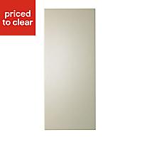 IT Kitchens Santini Gloss Cream Slab Appliance & larder Deep wall end panel (H)720mm (W)335mm