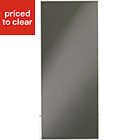 IT Kitchens Santini Gloss Anthracite Slab Tall Appliance & larder Wall end panel (H)900mm (W)335mm