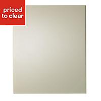 IT Kitchens Santini Gloss Cream Slab Appliance & larder Base end panel (H)720mm (W)570mm